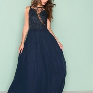 Ax Paris Lace Detail Dress Maksimekko Navy