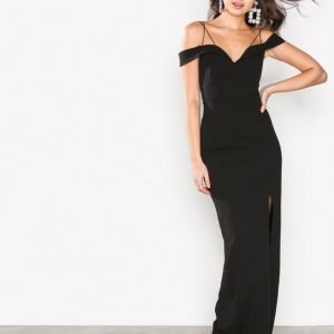 Ax Paris Long Off Shoulder Dress Kotelomekko Black
