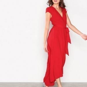 Ax Paris Long Wrap Dress Kotelomekko Red