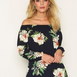 Ax Paris Off Shoulder Top Pitkähihainen Paita Navy