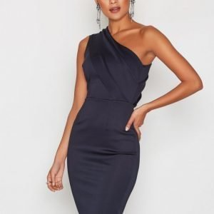 Ax Paris One Shoulder Dress Kotelomekko Navy