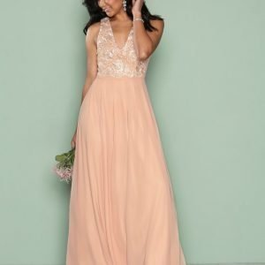 Ax Paris Sl Maxi Dress Maksimekko Light Beige