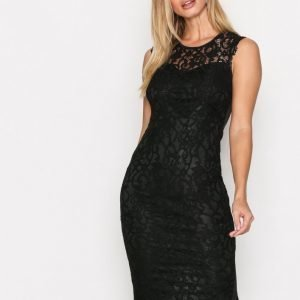 Ax Paris Sleveless Bodycon Lace Dress Kotelomekko Black