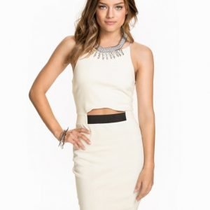 Ax Paris Spagetti Strap High Neck Dress