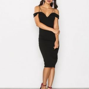Ax Paris Thin Strap Bodycon Dress Kotelomekko Black