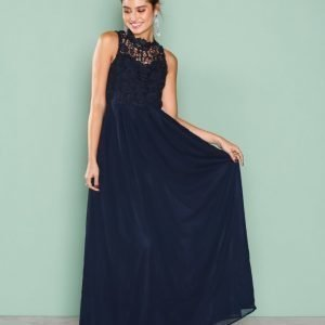 Ax Paris Upper Crochet Maxi Dress Maksimekko Navy