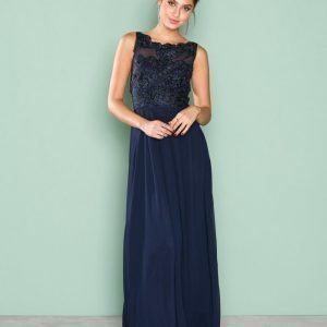 Ax Paris Upper Lace Maxi Dress Maksimekko Navy