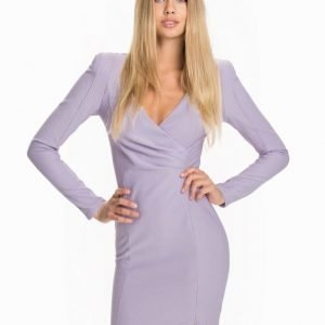 Ax Paris Wrap Front Midi Dress Cream