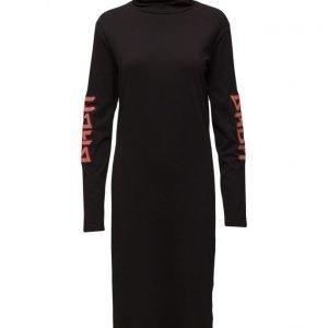 BACK Ls Polo Dress Print mekko