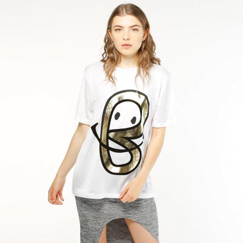BACK Print Uni -t-paita