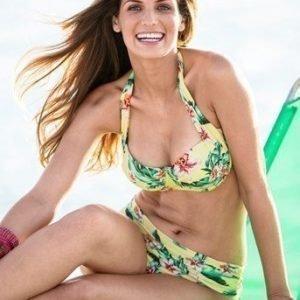 BEACHWAVE Bikinihousut Keltainen Kukallinen