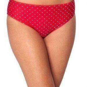 BEACHWAVE Bikinihousut Salma Vadelmanpunainen Valkoinen
