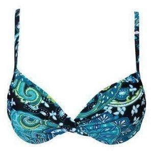 BEACHWAVE Bikiniliivit Paisley Musta