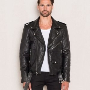 BLK DNM Leather Jacket 5 Black