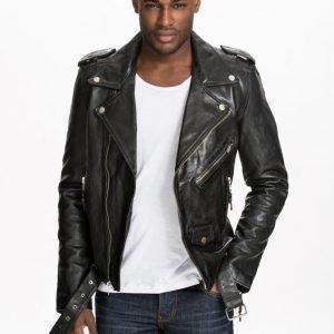 BLK DNM Leather Jacket 5 Takki Musta