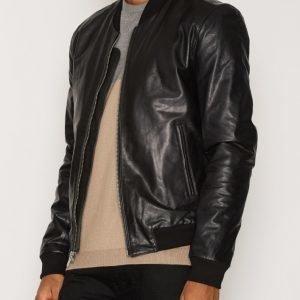 BLK DNM Leather Jacket 81 Takki Black