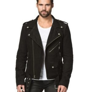 BLK DNM Leather jacket 5 Suede Black