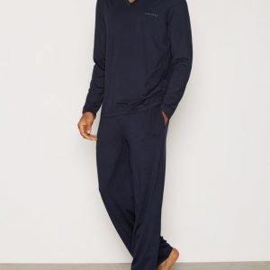BOSS Set Long Pyjamasetti Dark Blue
