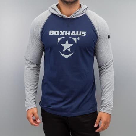 BOXHAUS Brand Pitkähihainen Paita Sininen