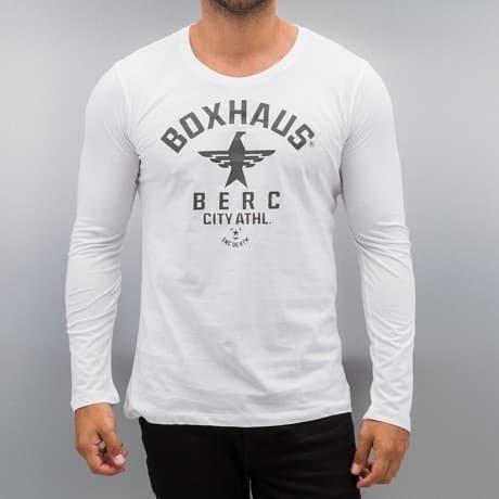 BOXHAUS Brand Pitkähihainen Paita Valkoinen