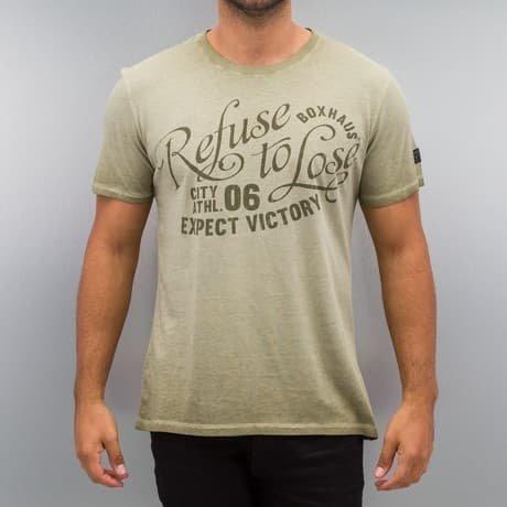 BOXHAUS Brand T-paita Khakiruskea