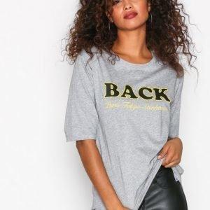 Back Box T-Shirt T-Paita Grey Melange