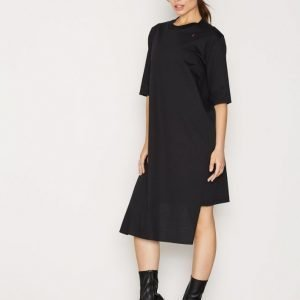 Back T-Shirt Dress Loose Fit Mekko Black