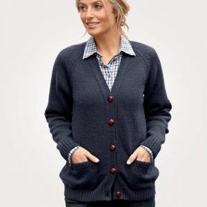 Balmoral Knitwear Neuletakki Laivastonsininen
