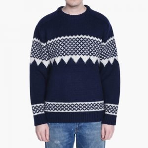Beams+ Snow Pattern Sweater