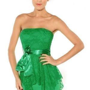 Belle vihreä pitsimekko (plus size)