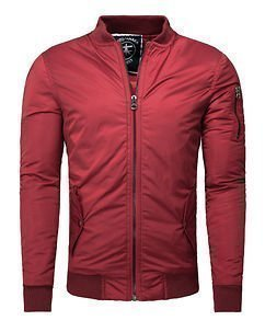 Bike Bomber Jacket Red