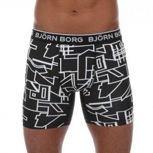 Björn Borg 1p Philip Shorts Collage Outline Bokserit Musta / Valkoinen
