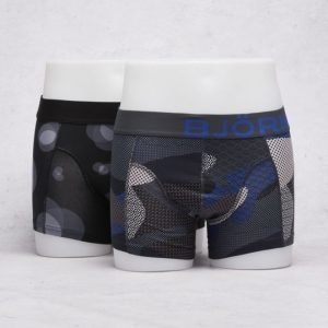 Björn Borg 2-Pack Liquid Dot & Contrast Camo Boxer 70111 Sodalite Blue