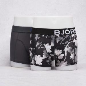 Björn Borg 2-Pack Liquid Dot & Contrast Camo Boxer 90011 Black