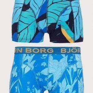 Björn Borg 2p Short Shorts BB Leaf & BB Flower Bokserit Peacoat