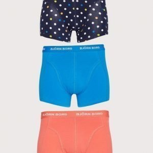 Björn Borg 3p Short Shorts BB Dot Bokserit Peacoat