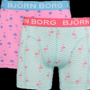 Björn Borg Bb Mini Palms & Bb Flamingo Stripe Sammy Shorts Alushousut