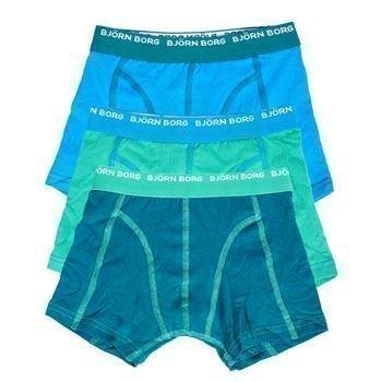 Björn Borg Boys Seasonal Solids Shorts Bril Blue 3 pakkaus