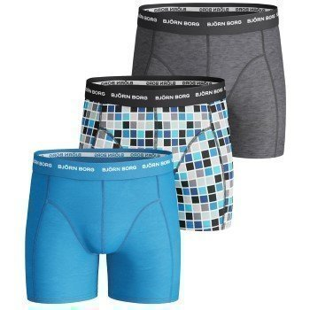 Björn Borg Boys Shorts Basic Check 3 pakkaus