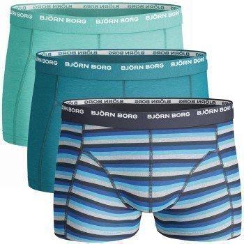Björn Borg Boys Shorts Basic Stripe Mood Indigo 3 pakkaus