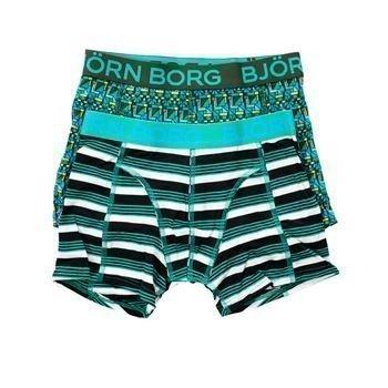 Björn Borg Hunting Boys Shorts Kombu Green 2 pakkaus