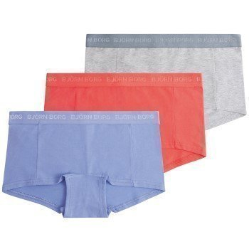 Björn Borg Mini Shorts Seasonal Solids Jacaranda 3 pakkaus