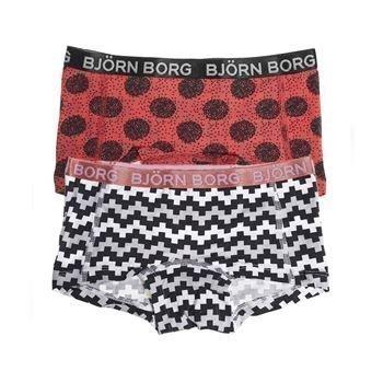 Björn Borg Pixle Mini Shorts Camellia Rose 2 pakkaus