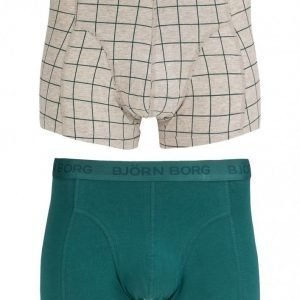 Björn Borg Short Shorts BB Check 2-Pack Bokserit Pacific