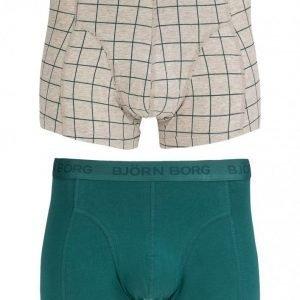 Björn Borg Short Shorts BB Check 2-Pack Bokserit Pacific