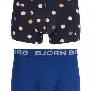 Björn Borg Short Shorts BB Contrast Dot 2-Pack Bokserit Total Eclipse
