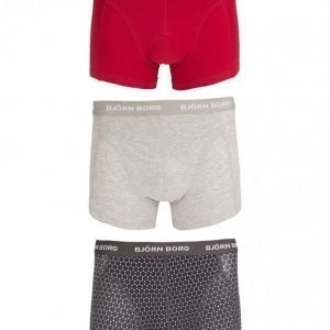 Björn Borg Short Shorts BB Dot 3-Pack Bokserit Asphalt