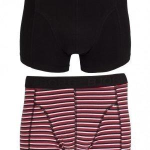 Björn Borg Short Shorts BB Japanese Stripe 2-Pack Bokserit Black