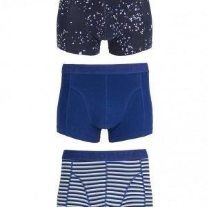 Björn Borg Short Shorts BB Petals & BB Japanese Stripe 3-Pack Bokserit Total Eclipse