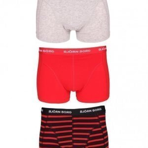 Björn Borg Short Shorts BB Stripe 3-Pack Bokserit Black